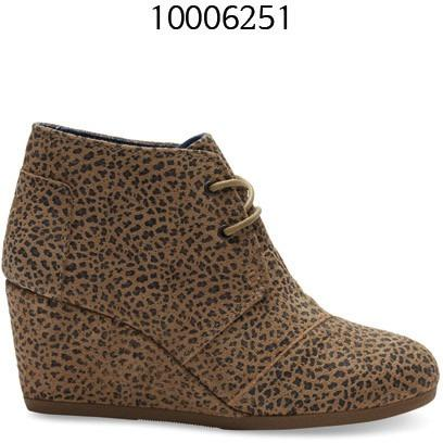 Toms CHEETAH SUEDE WOMEN'S DESERT WEDGES 10006251