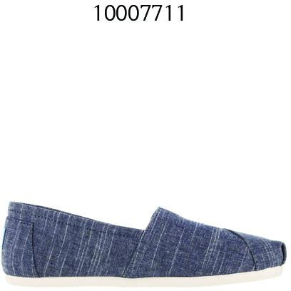TOMS Womens Classic Espadrilles Casual Shoes Chambray 10007711