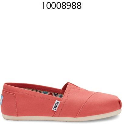 TOMS Canvas Womens Classics SPICEDCORAL 10008988