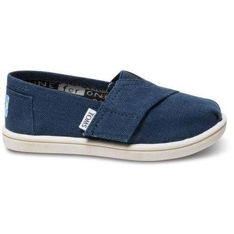 Toms Tiny Navy Canvas  Classic 013001D13-NVY