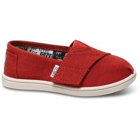 Toms Tiny Red Canvas  Classic 013001D13-RED