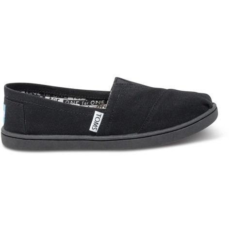 Toms Youth Black Canvas Classic 012001C13-BLK