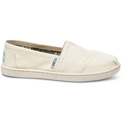 Toms Youth Natural Canvas Classic 012001C13-LTBGE