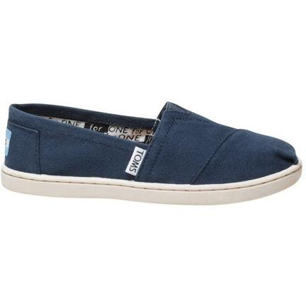 Toms Youth Navy Canvas Classic 012001C13-NVY