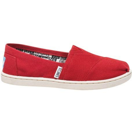 Toms Youth Red Canvas Classic 012001C13-Red