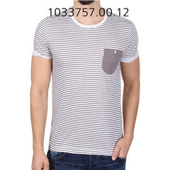 TOM TAILOR Striped T-Shirt With Pocket White 103375700