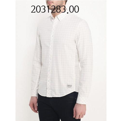 TOM TAILOR Melange Checked Shirt SlightlyCreamy 203128300