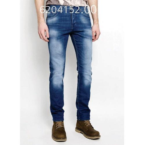 TOM TAILOR Mens Slim Aedan Denim Solid Long Jeans BLUDENIMDKWASH 620415200