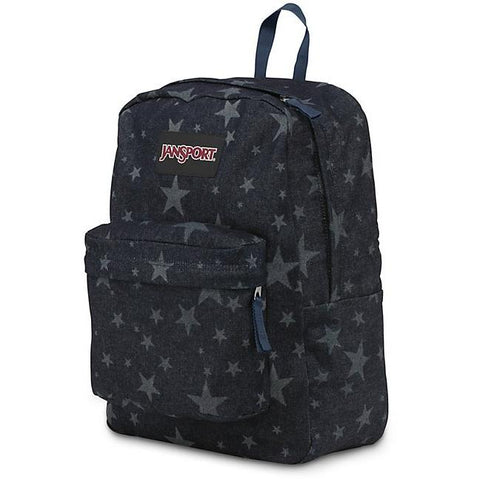 Jansport Super FX Backpack Dark Blue Denim Laser Star JS00TVP803G