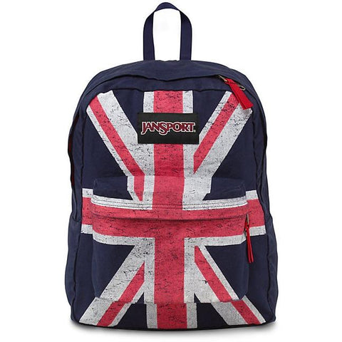 Jansport Super FX Backpack Navy Union Jack JS00TVP804P