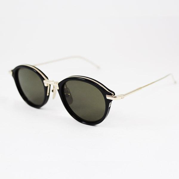 THOM BROWNE Unisex Sunglasses Tb-011A-T-46  Black-Shiny TB-011