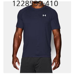 UNDER ARMOUR Mens Tech Short Sleeve T-Shirt Midnight Navy/White 1228539-410
