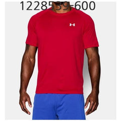 UNDER ARMOUR Mens Tech Short Sleeve T-Shirt Red/White 1228539-600
