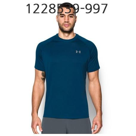 UNDER ARMOUR Mens Tech Short Sleeve T-Shirt Blackout Navy/Steel 1228539-997
