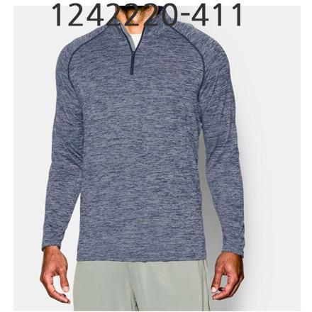 UNDER ARMOUR Mens Tech 1/4 Zip Long Sleeve T-Shirt Academy/Steel 1242220-411