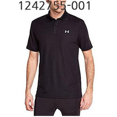 UNDER ARMOUR Mens Performance Polo T-Shirt Black/Steel 1242755-001