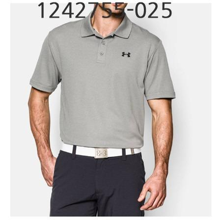 UNDER ARMOUR Mens Performance Polo T-Shirt True Gray Heather/Black 1242755-025