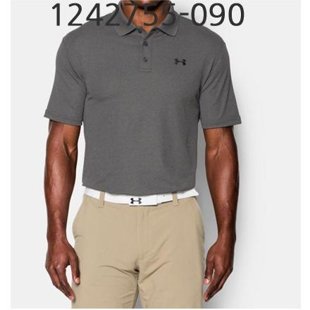 UNDER ARMOUR Mens Performance Polo T-Shirt Carbon Heather/Black 1242755-090