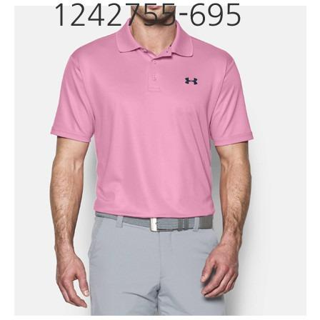 UNDER ARMOUR Mens Performance Polo T-Shirt True Pink/Academy 1242755-695