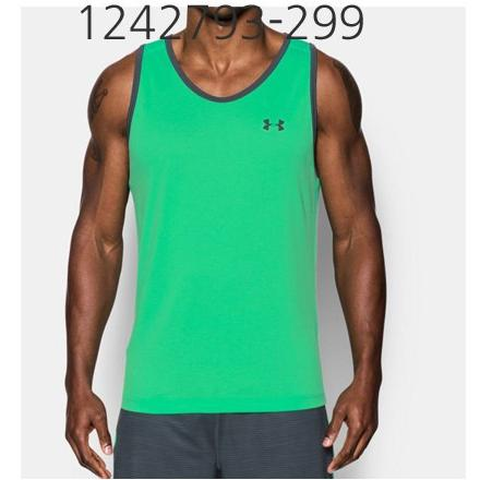 UNDER ARMOUR Mens Tech Tank Top Vapor Green/Stealth Gray 1242793-299
