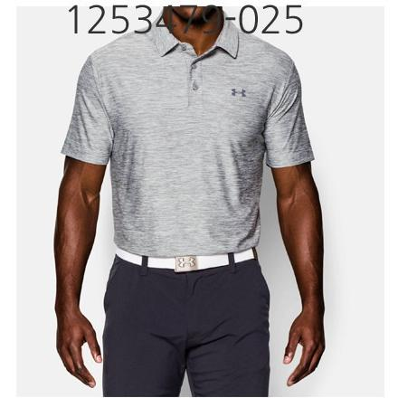 UNDER ARMOUR Mens Playoff Golf Polo T-Shirt True Gray Heather/Graphite 1253479-025
