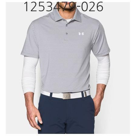 UNDER ARMOUR Mens Playoff Golf Polo T-Shirt True Gray Heather/White 1253479-026