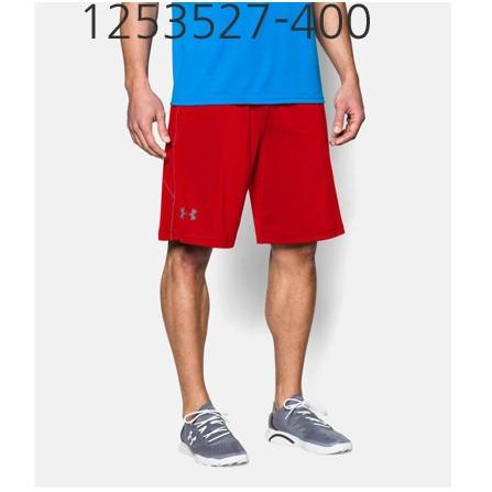 UNDER ARMOUR Mens Raid 10 Shorts Red/Steel 1253527-600