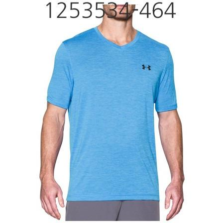 UNDER ARMOUR Mens Tech V-Neck T-Shirt Water/Black 1253534-464