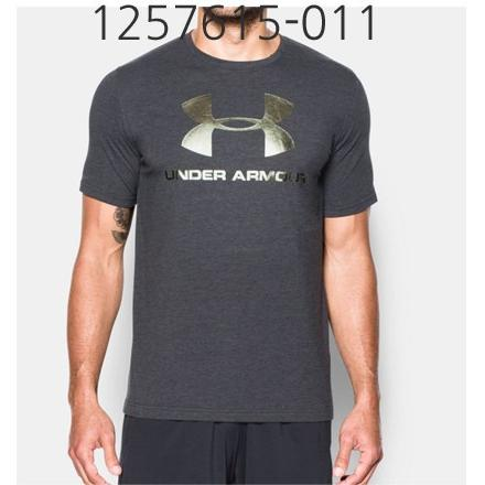 UNDER ARMOUR Mens Sportstyle Logo T-Shirt Black/Iridescent Foil 1257615-011