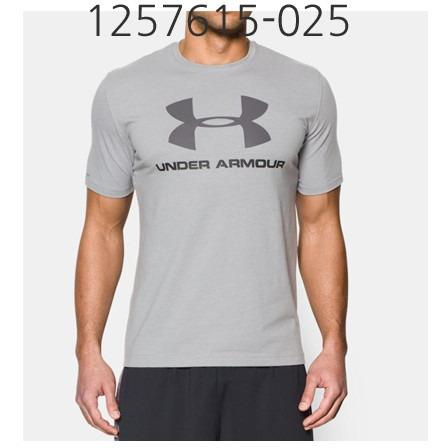 UNDER ARMOUR Mens Sportstyle Logo T-Shirt True Gray Heather/Black/Graphite 1257615-025