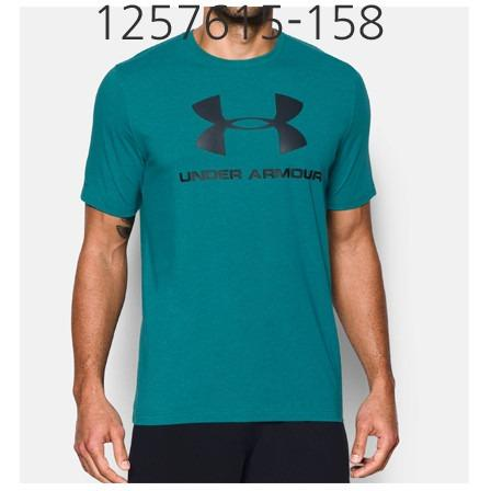 UNDER ARMOUR Mens Sportstyle Logo T-Shirt Turquoise Sky/Black/Steel 1257615-158