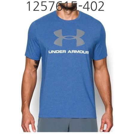 UNDER ARMOUR Mens Sportstyle Logo T-Shirt Royal/White/Steel 1257615-402
