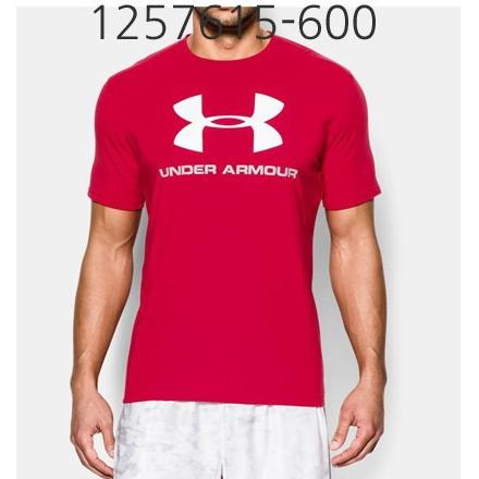 UNDER ARMOUR Mens Sportstyle Logo T-Shirt Red/Steel/White 1257615-600