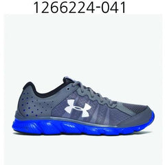 UNDER ARMOUR Mens Micro G Assert 6 Running Shoes Graphite/Ultra Blue/White 1266224-041