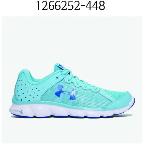 UNDER ARMOUR Womens Micro G Assert 6 Running Shoes Venetian Blue/White/Mediterranean 1266252-448