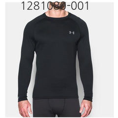 UNDER ARMOUR Mens Base 2.0 Crew Long Sleeve T-Shirt Black/Steel 1281080-001