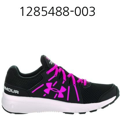 UNDER ARMOUR Womens Dash Rn 2 Running Shoes Black/Glacier Gray/Tropic Pink 1285488-003