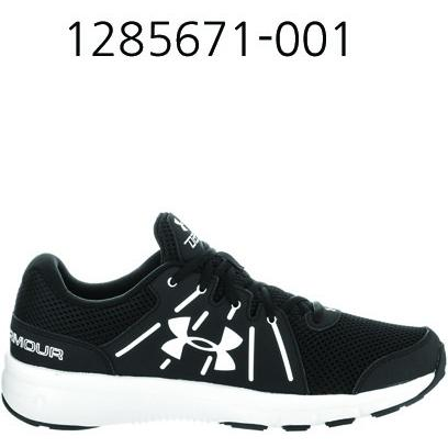 UNDER ARMOUR Mens Dash Rn 2 Running Shoes Black/White 1285671-001