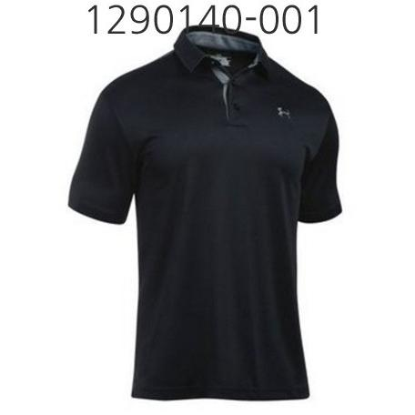 UNDER ARMOUR Mens Tech Polo T-Shirt Black/Graphite 1290140-001