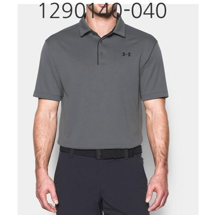 UNDER ARMOUR Mens Tech Polo T-Shirt Graphite/Black 1290140-040