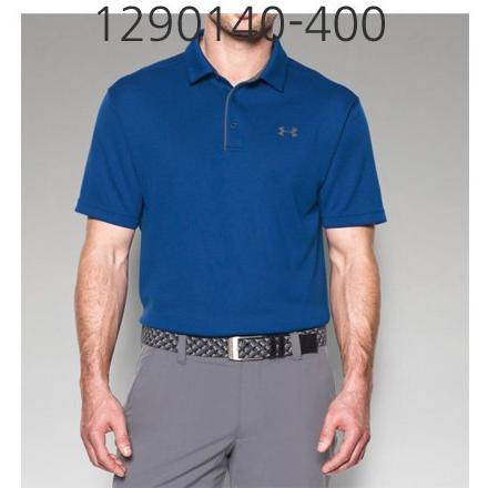 UNDER ARMOUR Mens Tech Polo T-Shirt Royal/Graphite 1290140-400