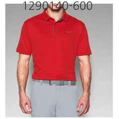 UNDER ARMOUR Mens Tech Polo T-Shirt Red/Graphite 1290140-600