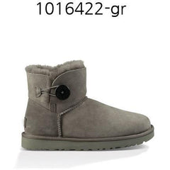 UGG Womens Mini Bailey Button ???? Grey 1016422