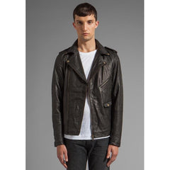 Zanerobe Crosstown Biker Leather Jacket