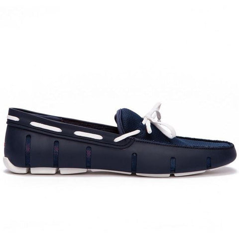 SWIMS Lace Loafer Navy/White
