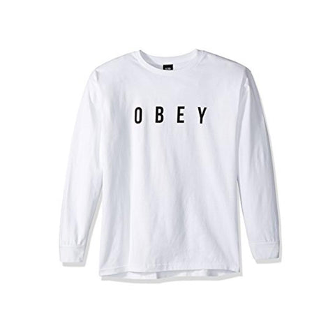 Obey Anyway Basic Long Sleeve T-Shirt White 164901638