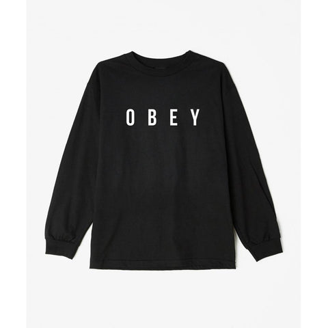 Obey Anyway Basic Long Sleeve T-Shirt Black 164901638