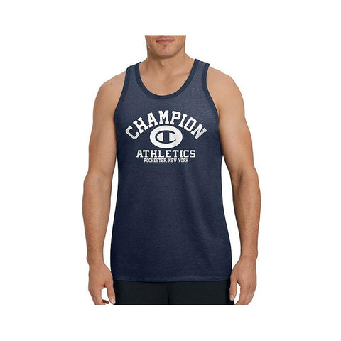Champion Men's Ringer Tank Navy T0224G