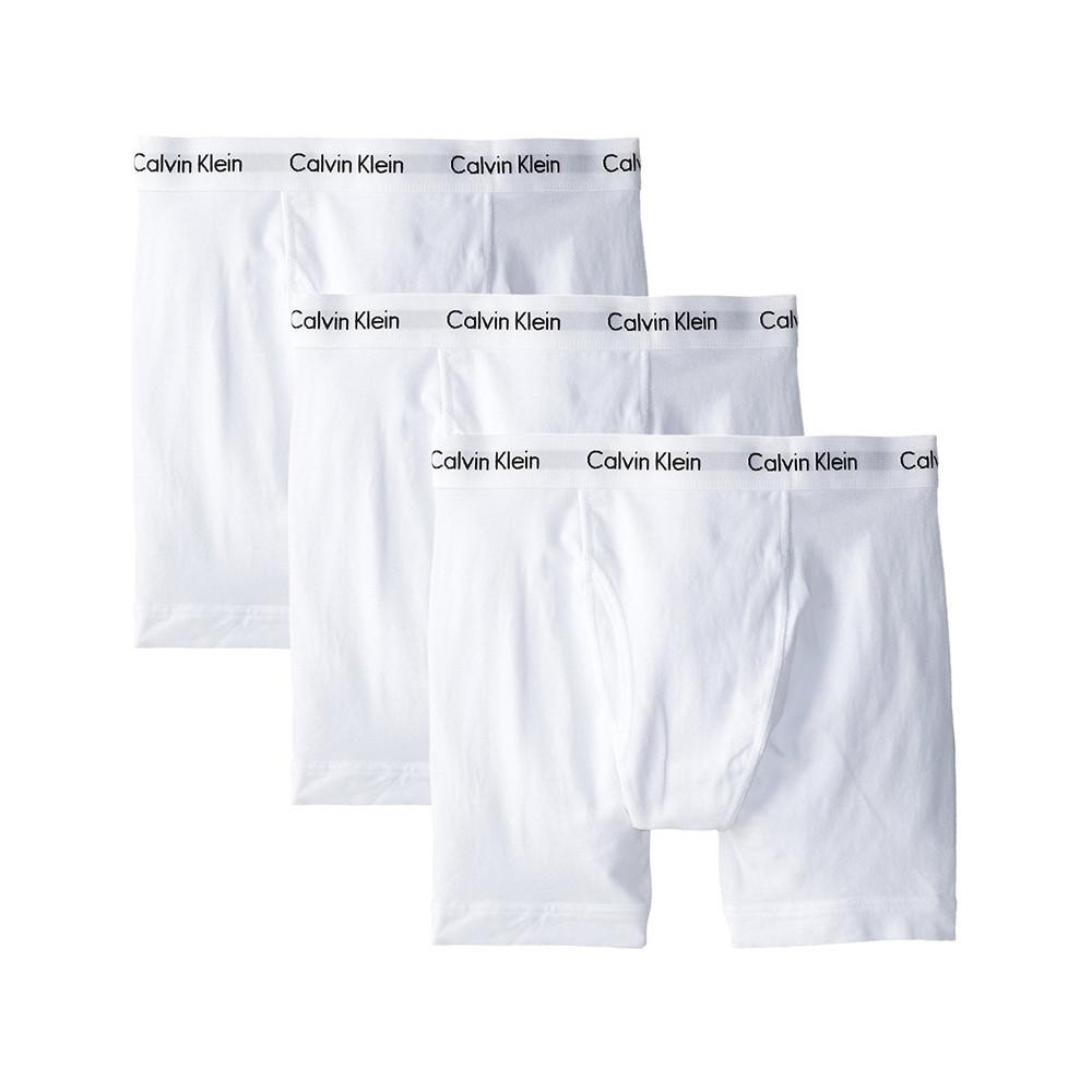 Calvin Klein Men's Underwear 3 Pack Cotton Stretch Boxer Briefs White NU2666