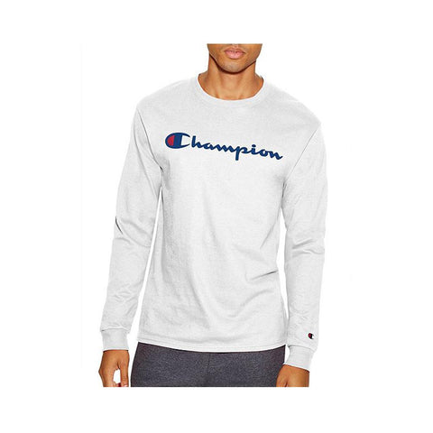 Champion Cotton Long-Sleeve Tee White T2229P